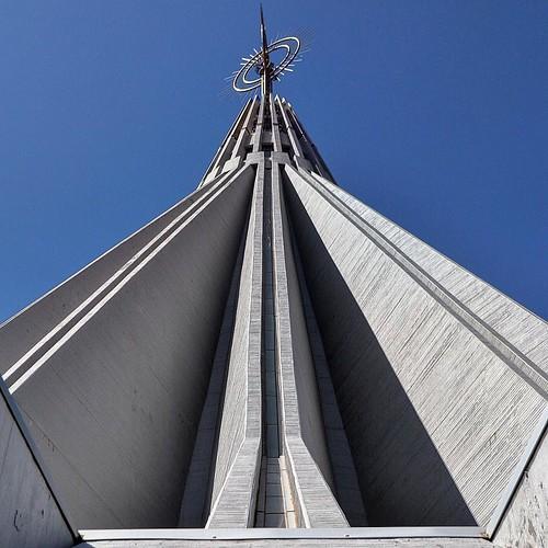 Exploring the modern church that is Santuario Madonna delle Lacrime. #Italy #sicily #Syracuse #italianarchitecture