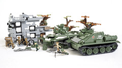 Counter-attack! (Adam Purves (S3ISOR)) Tags: brick war tank counter lego military wwii attack destroyer armor soviet ww2 block russian armour worldwar worldwar2 cobi t34 2470 2467 counterattack su85 t3476 smallarmy
