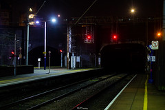 Kentish Town Tunnels (LFaurePhotos) Tags: life urban london night lights vanishingpoint platform trainstation tunnels deserted emptiness kentishtown thameslink northlondon signalling londonatnight londonboroughofcamden