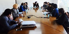 Sukhbir Singh Badal met with the state council of Mayors to review the 4000 cr Urban Development plan (sukhbirsingh_badal) Tags: infrastructure environment projects punjab development mayors akalidal sukhbirsinghbadal