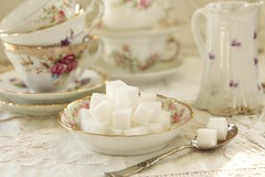 will that be one lump or two ?? (s@ssyl@ssy) Tags: geometric vintage tea squares antique sugar cubes limoges 852 52by52