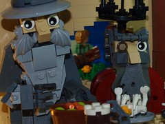 An Unexpected Party (2) (emperor.willmot) Tags: party lego an gandalf hobbit unexpected tolkien dwarves macrofigs