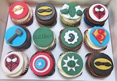 Avengers Themed Cupcakes (A Cherry On Top Scotland) Tags: birthday wedding cake wow cupcakes fife flash spiderman ironman batman hulk pow thor burntisland avenger cherryontop clairesara avengerthemedcupcakes vowswinner2015