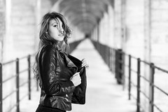 B&W-8292 (Fabio Circelli) Tags: portrait girl beautiful glamour perfect pretty suisse swiss shooting fribourg miss francophone grandfeybridgeportrait
