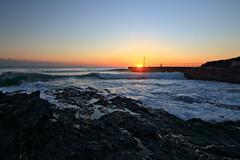 Porthleven (Peter Sincock) Tags: uk sunset sea outside coast pier rocks cornwall surf waves porthleven