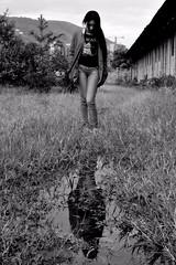 Parallel (brandonramirez11t) Tags: portrait blackandwhite woman mujer loneliness sad retrato reflejo soledad reflexión thinkin