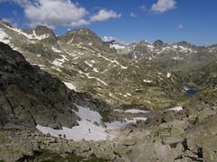 Widok z podejścia na przełęcz Contraix