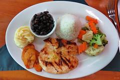 Lunch at Restaurant, Fortuna town, Arenal, Costa Rica IMG_0881 (Hart Walter) Tags: rainforest birdwatching fortuna socialflycatcher iguanas epiphytes euphonia tropicalforest arenalvolcano costaricanature swalowtailedkite paraisoresort misticohangingbridgespark