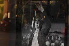 :: Tribute to Wim Wenders :: (J!bz) Tags: france film grey gris photo reflet reflect reflejo win 55 francia reflexo wimwenders wenders vitrine clermontferrand jbr nuances 2015 pellicule pentaxart jbrphoto jbrphotography