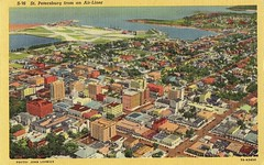 St. Petersburg, FL, from an Air-Liner (Guy Clinch) Tags: 1930s airport postcard aerial