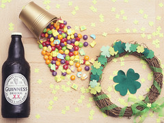 An eruption of Irish [11/52] (Jam-Gloom) Tags: life wood ireland stilllife irish beer saint st project four gold wooden leaf bottle still rainbow day patrick lifestyle olympus 11 guinness pot wreath lucky week colourful patricks 18 clover product shamrocks fourleafclover stpatricks skittles shamrock 45mm stpatricksday 52 omd luckycharms beerbottle pattys stpattysday draught woodenboard patricksday luckoftheirish potofgold week11 potogold 52weeks minamalism guinnessbeer em5 project52 52weekproject 45mm18 olympusomd olympusomdem5