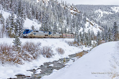 Covered In Snow (Colorado & Southern) Tags: railroad snow mountains train colorado railway trains amtrak rockymountains passenger railfan railroads moffat railroading californiazephyr railfanning passengercars moffatroute gep42dc coloradorailroads coloradotrains themoffatroad