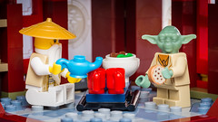 Tea Time (Reiterlied) Tags: toy temple starwars cookie yoda lego tea minifig wu sensei minifigure ninjago airjitzu