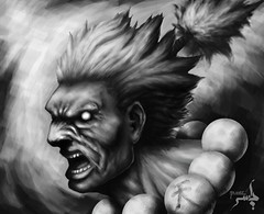 gouki (yasser.cbq) Tags: lighting shadow digital training painting streetfighter yasser akuma gouki yazeero