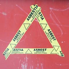 asbest (neppanen) Tags: suomi finland helsinki asbest varoitus discounterintelligence sampen asbesti helsinginkilometritehdas