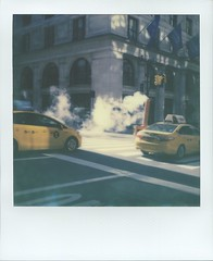 Steam stack, Manhattan, NYC, USA (PolaWalk) Tags: nyc usa polaroid manhattan taxi smoke steam pola roidweek polawalk roidweek2016