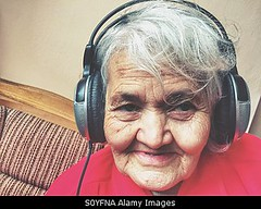 Photo accepted by Stockimo (vanya.bovajo) Tags: old portrait music woman home senior lady female relax women adult natural grandmother song relaxing listening elderly single headphones granny chill hearing iphone iphonegraphy stockimo