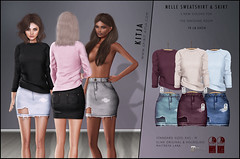 KITJA - Nelle Outfit (3 new colors for TDR) (ᴋɪᴛᴊᴀ) Tags: fashion tdr maitreya slink thedressingroom seconlife meshbody kitja fittedmesh