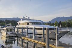 Nova Spirit (_32_2898) ([Rossco]:[www.rgstrachan.com]) Tags: canada sunshine vancouver evening yacht britishcolumbia canadaplace luxury coalharbour novaspirit jimpattison