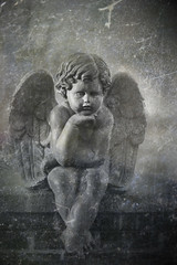 angel (thedreamerslostsoul) Tags: old blackandwhite angel cemetary cemetaries textures