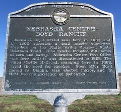 Nebraska Centre-Boyd Ranche Marker (Shelton, Nebraska) (courthouselover) Tags: landscapes nebraska ne lincolnhighway buffalocounty platterivervalley nebraskahistoricalmarkers