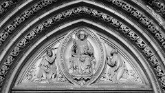 Saint Mary's 05 (byronv2) Tags: blackandwhite bw sculpture building history church monochrome statue architecture scotland blackwhite edinburgh cathedral victorian stonecarving carving saintmarys neogothic newtown westend kirk 1874 edimbourg sirgeorgegilbertscott scottishepiscopalchurch