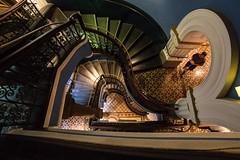 QVB stairwell || Sydney {Explore 122, 2016/04/05} (David Marriott - Sydney) Tags: building spiral stair au sydney australia victoria symmetry stairwell queen nsw newsouthwales qvb