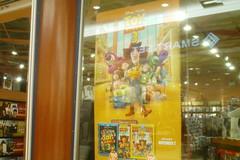 HMV Toy Story 3 DVD poster (splinky9000) Tags: fredericton new brunswick regent mall hmv video store disney pixar toy story 3 banner sheriff woody buzz lightyear cowgirl jessie little green aliens mr mrs potato head rex hamm slinky dog ken barbie lotso huggin bear stretch