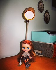 Clover with her new camera! #tinyworld