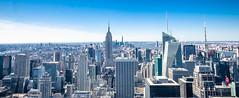Manhatten from Top of the Rock (Colin Carroll (Sonny Eclipse)) Tags: nyc newyorkcity newyork manhattan rockefellercenter empirestatebuilding rockefeller newyorknewyork topoftherock