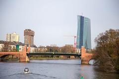 Frankfurt am Main: Europische Zentralbank EZB (kevin.hackert) Tags: wasser hessen frankfurt main brcke fluss frankfurtammain metropole hochhaus wolkenkratzer ffm ezb 069 rheinmain europischezentralbank altebrcke