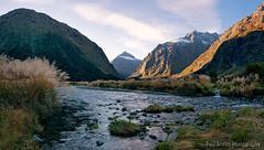 Monkey Creek Panorama (Panorama Paul) Tags: sunset newzealand panorama milfordsound nikkorlenses nikfilters hollyfordvalley monkeycreek nikond800 wwwpaulbruinscoza paulbruinsphotography