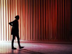 Entrance (aannasole) Tags: milan art silhouette architecture geometry contemporaryart installation interactive silhoutte controluce spazio suoni soud hangarbicocca acchiappasogni reazioneacatena installazionesonora annasole mariagiuseppinagrassocannizzo