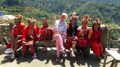 My Birthday Party 2015 with the elders of the Ifugao tribe  :P (ShambLady, pls read profile page...) Tags: birthday friends red party feest people amigos rot hat sign rouge happy rojo asia philippines may hats tribal v tribe elders banaue wacky unforgettable cultural ifugao riceterraces stam luzon azie mensen verjaardagsfeestje 2015 indiginous filippijnen rijstterrassen