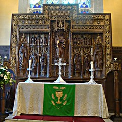 [40828] Bingham : High Altar & Reredos (Budby) Tags: church carving altar nottinghamshire bingham reredos