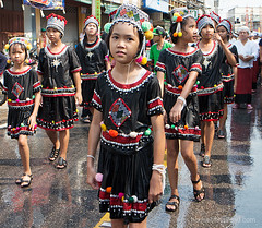 Songkran Parade Pasang (houseofthailand.com) Tags: thailand songkran hilltribe pasang