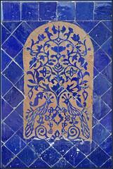 blue birds of Fes (mhobl) Tags: blue art fliesen morocco tiles maroc blau fes hingebrselt