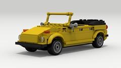 VW Thing (LegoGuyTom) Tags: road classic vw digital vintage germany volkswagen europe european lego offroad pov designer thing off german legos download type 1960s 1970s 1980s dropbox povray 181 roader offroader ldd lxf legodigitaldesigner