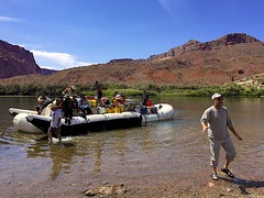 Excitement is Building (oxfordblues84) Tags: arizona sky people cloud man water clouds reflections river beard teenagers teens tourist nativeamerican teen rafting coloradoriver raft facialhair nativeamericans leesferry michaelyoung whitewaterraftingtrip roadscholar roadscholartour roadscholartrip grandcanyonnationalparkexploringthenorthandsouthrims roadscholarorg