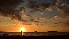 Jogging On The Beach At Sunset (photo-razzo) Tags: life sunset beach asian nikon asia southeastasia availablelight naturallight malaysia kotakinabalu jogging sabah asean pantai nationalgeographic humaninterest tanjungaru d5500 discoveryphotos flickaward nikonafsdxnikkor1855mmf3556gvrii