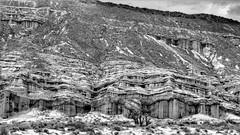 Ricardo Formation (Doug Santo) Tags: redrockcanyon blackandwhite mojavedesert landscapephotography highway14 ricardoformation