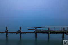 Jetty (Joel Bramley) Tags: new wood blue newzealand rot long exposure decay jetty smooth zealand