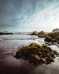 After the storm (Felipe Seplveda R.) Tags: seascape green beach nature azul clouds rocks waves seashore