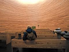 silence simplicity (travelben) Tags: new wood architecture modern square design helsinki europe religion chapel indoor kamppi silence material architecte contemporaine narinkkatori finlland