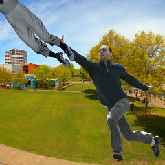 Jump Catch (swong95765) Tags: park woman man guy flying jump reaching stretch catch reach leap leaping grasp