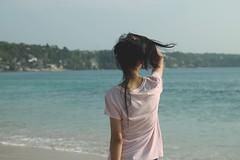dont (nidyaputride) Tags: ocean blue black green beach girl back