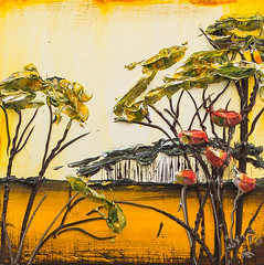 LS12X12-2016-123.nef (Justin Gaffrey) Tags: trees brown lake art nature yellow painting gold florida wildflowers acrylicpaint 30a lakescape sowal justingaffrey