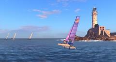 Nacra @NYC - Nacras in the morning sun (vivipezz) Tags: nyc sailing sl nantucket secondlife nacra17