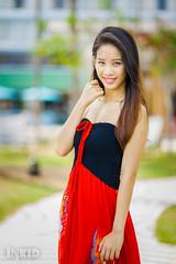DSC06898 (inkid) Tags: portrait people girl female lights model pretty dof dress natural bokeh outdoor f14 85mm sigma tang ashlyn hsm