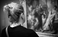 Contemplation (Royal Canadian) Tags: blackandwhite woman ontario canada art painting thought gallery ottawa nationalgallery